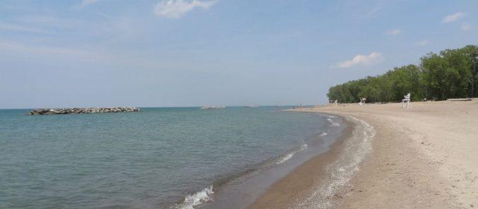Presque Isle Beach in Erie, Penn.