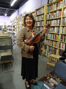 Judy, the vivacious violist.