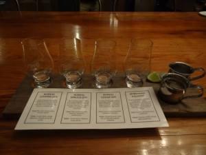 A flight of gin.